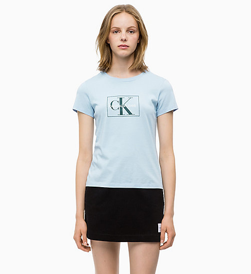 CALVIN KLEIN JEANS Slim Logo T-shirt - CHAMBRAY BLUE - CALVIN KLEIN JEANS ALL GIFTS - main image