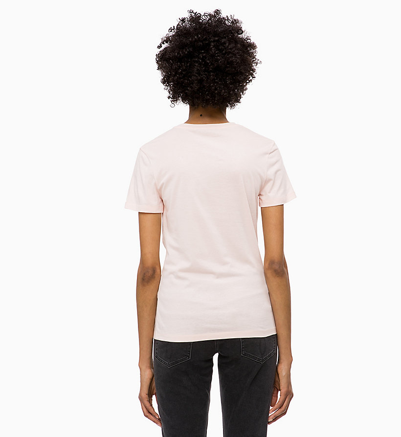 CALVIN KLEIN JEANS T-shirt met logo-applicatie - BRIGHT WHITE - CALVIN KLEIN JEANS DAMES - detail image 1