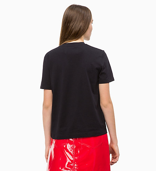 CALVIN KLEIN JEANS Relaxed Logo T-shirt - CK BLACK - CALVIN KLEIN JEANS NEW ICONS - detail image 1