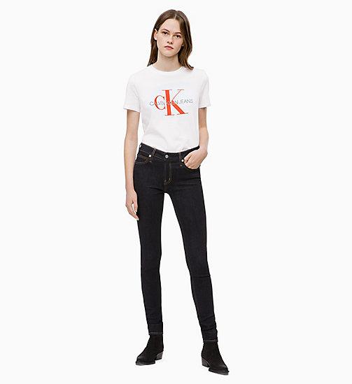 ... CALVIN KLEIN JEANS Relaxed Logo T-shirt - BRIGHT WHITE   PUMPKIN RED -  CALVIN 7d52b851b1fb