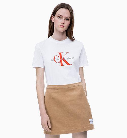42702bdcd200 CALVIN KLEIN JEANS Свободная футболка с логотипом - BRIGHT WHITE   PUMPKIN  RED - CALVIN KLEIN ...