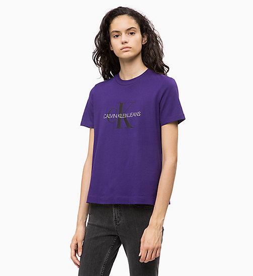 -30% CALVIN KLEIN JEANS T-shirt relaxed avec logo - PARACHUTE PURPLE   CK  BLACK ... 02cb70bd40d5