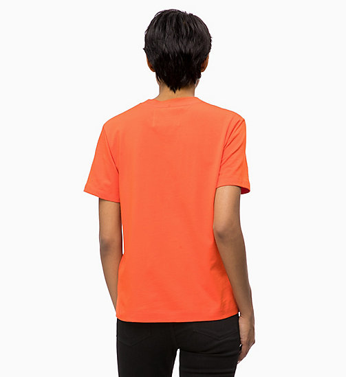 CALVIN KLEIN JEANS Relaxed Logo T-shirt - PUMPKIN RED - CALVIN KLEIN JEANS CLOTHES - detail image 1
