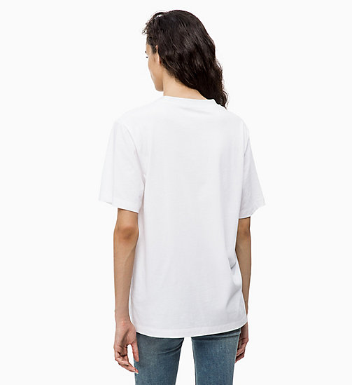 CALVIN KLEIN JEANS Relaxed Vinyl Logo T-shirt - BRIGHT WHITE - CALVIN KLEIN JEANS ALL GIFTS - detail image 1