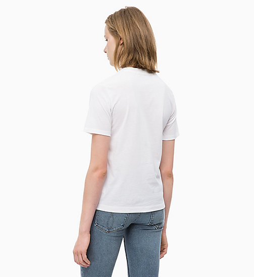 CALVIN KLEIN JEANS Relaxed Floral Appliqué T-shirt - BRIGHT WHITE - CALVIN KLEIN JEANS FALL DREAMS - detail image 1