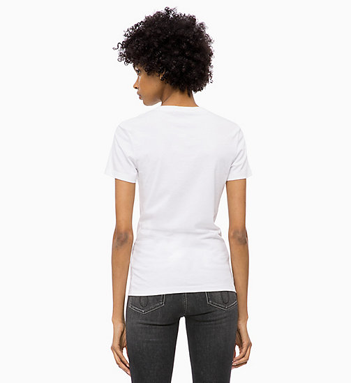 CALVIN KLEIN JEANS Flock Logo T-shirt - BRIGHT WHITE - CALVIN KLEIN JEANS ALL GIFTS - detail image 1