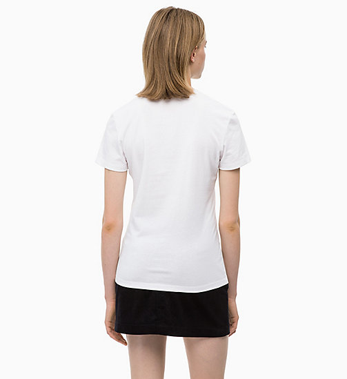 CALVIN KLEIN JEANS Printed T-shirt - BRIGHT WHITE - CALVIN KLEIN JEANS CLOTHES - detail image 1