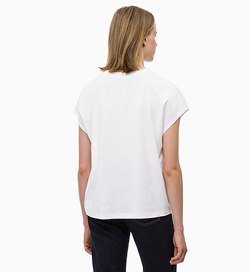 CALVIN KLEIN JEANS T-shirt met logo en kapmouwen - BRIGHT WHITE - CALVIN KLEIN JEANS The New Off-Duty - detail image 1