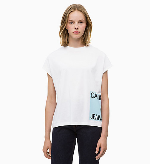 CALVIN KLEIN JEANS T-shirt met logo en kapmouwen - BRIGHT WHITE - CALVIN KLEIN JEANS The New Off-Duty - main image