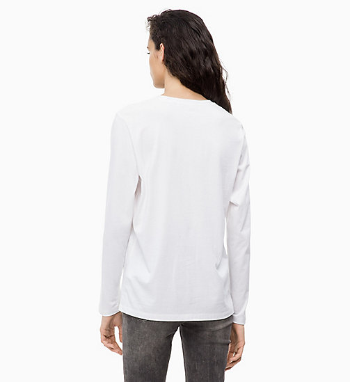 CALVIN KLEIN JEANS Long Sleeve Logo T-shirt - BRIGHT WHITE - CALVIN KLEIN JEANS NEW ICONS - detail image 1