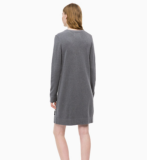 CALVIN KLEIN JEANS Cotton Wool Sweater Dress - MID GREY HEATHER - CALVIN KLEIN JEANS FALL DREAMS - detail image 1