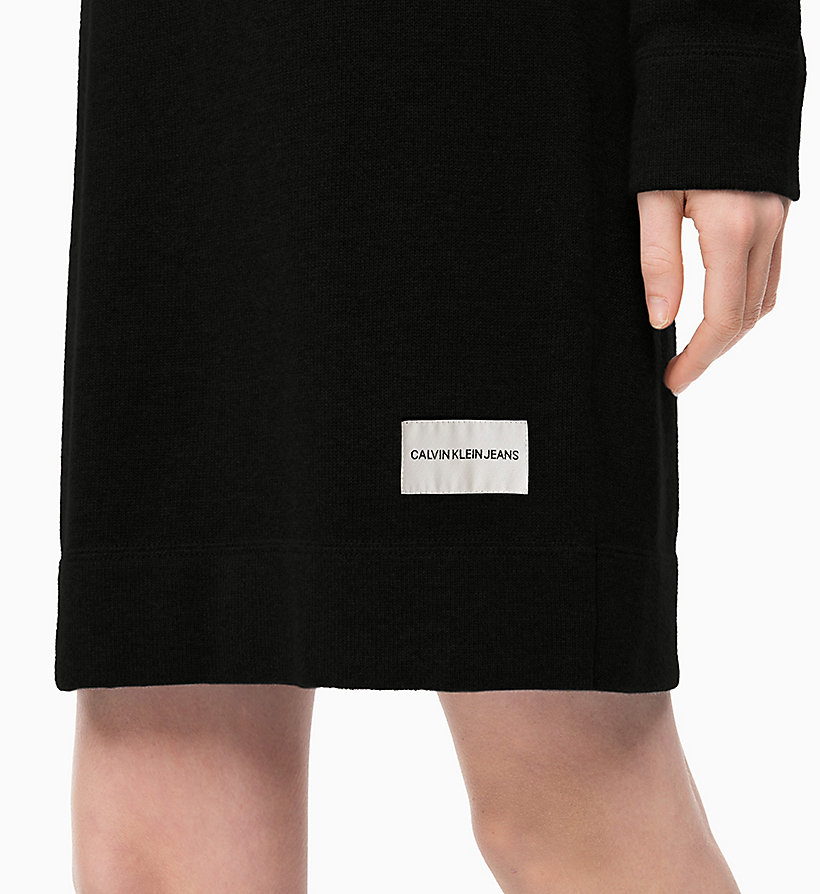 CALVIN KLEIN JEANS Cotton Wool Sweater Dress - MID GREY HEATHER - CALVIN KLEIN JEANS WOMEN - detail image 2