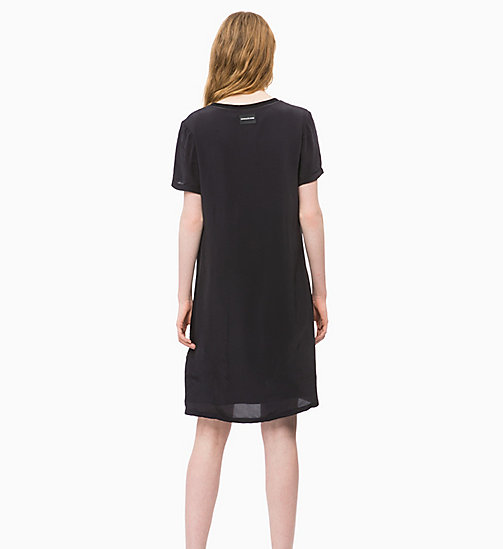 CALVIN KLEIN JEANS Crepe Dress - CK BLACK - CALVIN KLEIN JEANS CLOTHES - detail image 1