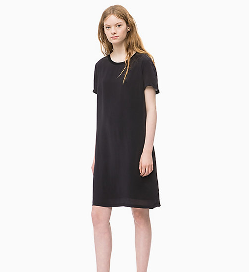 CALVIN KLEIN JEANS Crepe Dress - CK BLACK - CALVIN KLEIN JEANS CLOTHES - main image