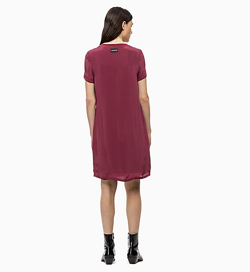 CALVIN KLEIN JEANS Crepe Dress - TAWNY PORT - CALVIN KLEIN JEANS CLOTHES - detail image 1