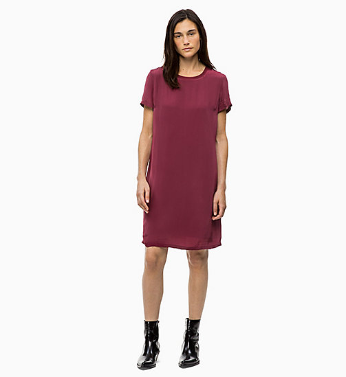 CALVIN KLEIN JEANS Crepe Dress - TAWNY PORT - CALVIN KLEIN JEANS CLOTHES - main image