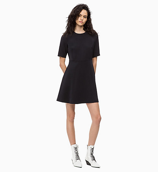 CALVIN KLEIN JEANS Flared Satin Dress - CK BLACK - CALVIN KLEIN JEANS WOMEN - main image