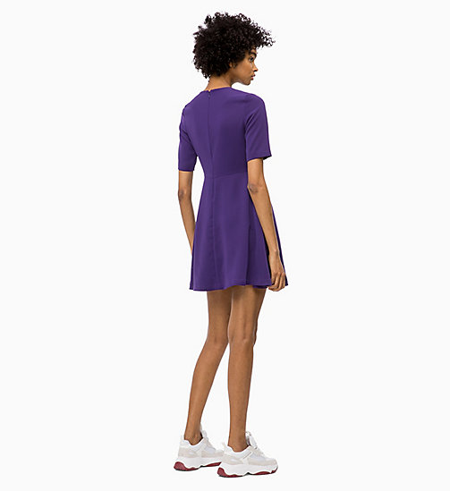 CALVIN KLEIN JEANS Flared Satin Dress - PARACHUTE PURPLE - CALVIN KLEIN JEANS CLOTHES - detail image 1