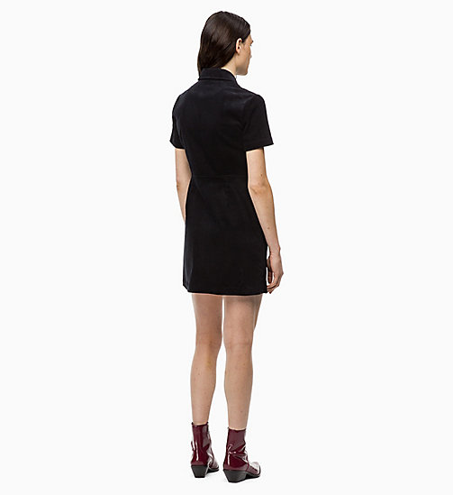 CALVIN KLEIN JEANS Corduroy Zip-Up Dress - CK BLACK - CALVIN KLEIN JEANS DRESSES - detail image 1
