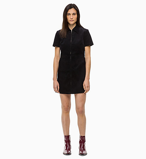 CALVIN KLEIN JEANS Corduroy Zip-Up Dress - CK BLACK - CALVIN KLEIN JEANS CORDUROY - main image