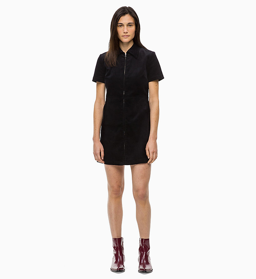 CALVIN KLEIN JEANS Corduroy Zip-Up Dress - TANNIN - CALVIN KLEIN JEANS WOMEN - main image