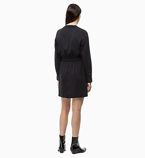 CALVIN KLEIN JEANS Long Sleeve Shirt Dress - CK BLACK - CALVIN KLEIN JEANS DRESSES - detail image 1