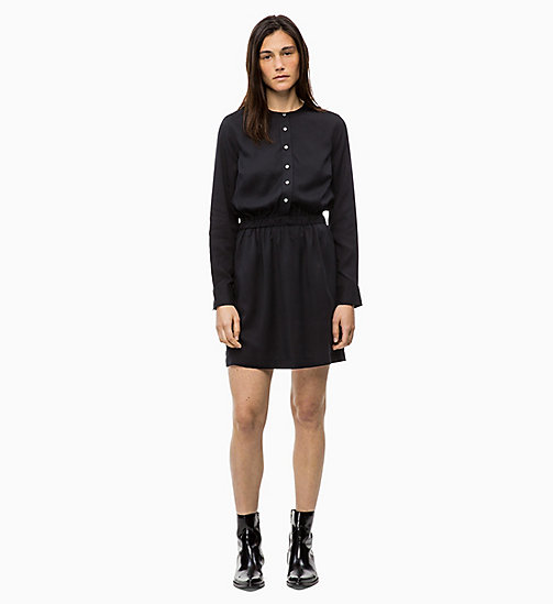 CALVIN KLEIN JEANS Long Sleeve Shirt Dress - CK BLACK - CALVIN KLEIN JEANS DRESSES - main image
