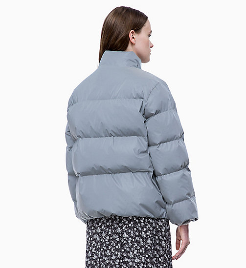 CALVIN KLEIN JEANS Down Reflective Puffer Jacket - REFLECTIVE - CALVIN KLEIN JEANS IN THE THICK OF IT FOR HER - detail image 1