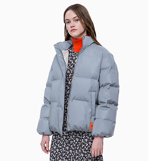 CALVIN KLEIN JEANS Down Reflective Puffer Jacket - REFLECTIVE - CALVIN KLEIN JEANS IN THE THICK OF IT FOR HER - main image