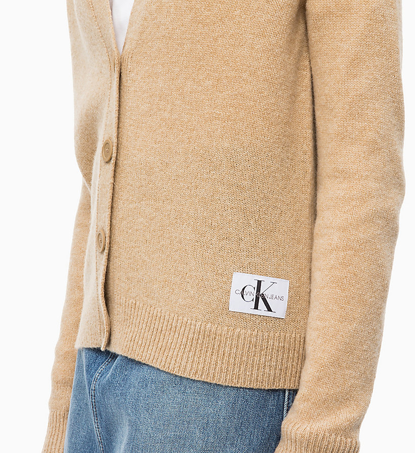CALVIN KLEIN JEANS Heathered Wool Cardigan - GREY HEATHER - CALVIN KLEIN JEANS WOMEN - detail image 2