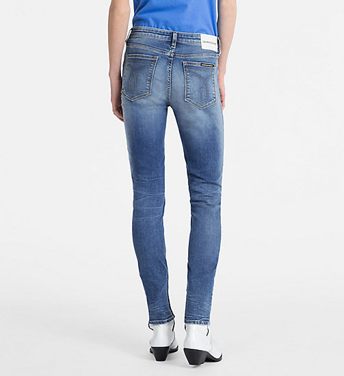 CALVIN KLEIN JEANS CKJ 011 Mid Rise Skinny Jeans - CEFALU BLUE DSTR - CALVIN KLEIN JEANS SKINNY JEANS - detail image 1