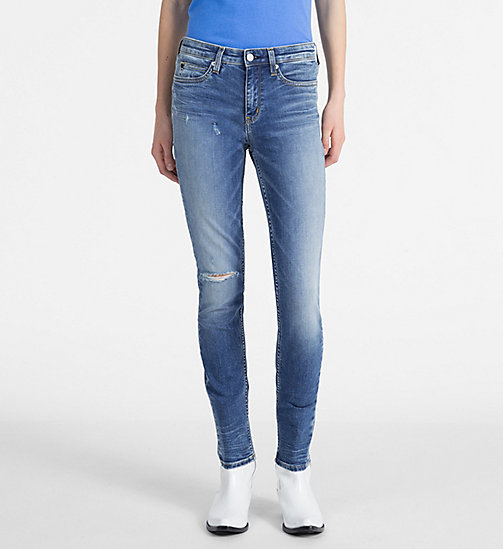 CALVIN KLEIN JEANS CKJ 011 Mid Rise Skinny Jeans - CEFALU BLUE DSTR - CALVIN KLEIN JEANS SKINNY JEANS - main image