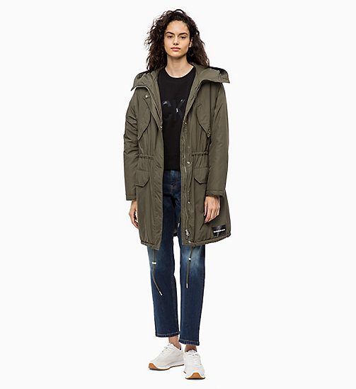 CALVIN KLEIN JEANS Padded Parka Jacket - GRAPE LEAF - CALVIN KLEIN JEANS CLOTHES - detail image 1