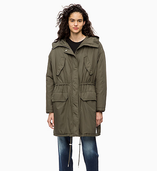 CALVIN KLEIN JEANS Padded Parka Jacket - GRAPE LEAF - CALVIN KLEIN JEANS COATS - main image