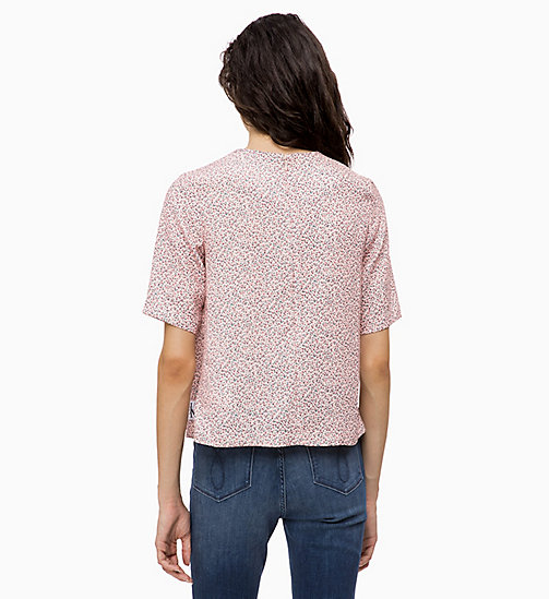 CALVIN KLEIN JEANS Relaxed Floral Top - MINI FLOWER CHINTZ ROSE - CALVIN KLEIN JEANS TOPS - detail image 1