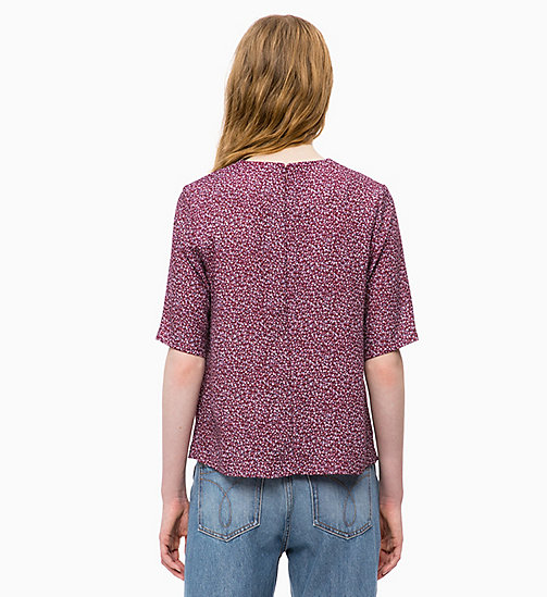 CALVIN KLEIN JEANS Relaxed Top mit floralem Print - MINI FLOWER TAWNY PORT - CALVIN KLEIN JEANS OBERTEILE - main image 1