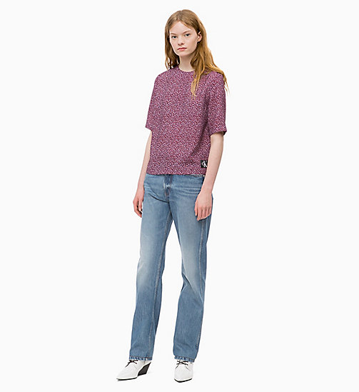 CALVIN KLEIN JEANS Relaxed Floral Top - MINI FLOWER TAWNY PORT - CALVIN KLEIN JEANS CLOTHES - detail image 1
