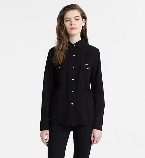 CALVIN KLEIN JEANS Western Denim Shirt - PRAGUE BLACK - CALVIN KLEIN JEANS NEW ICONS - main image