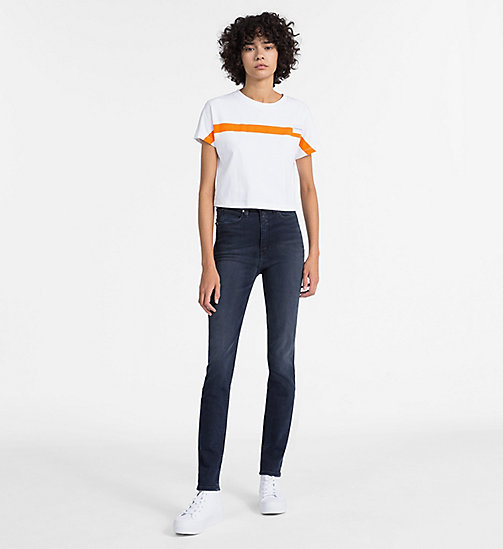 CALVIN KLEIN JEANS CKJ 010 High Rise Skinny Jeans - MILAN BLUE BLACK - CALVIN KLEIN JEANS THE DENIM INDEX - detail image 1