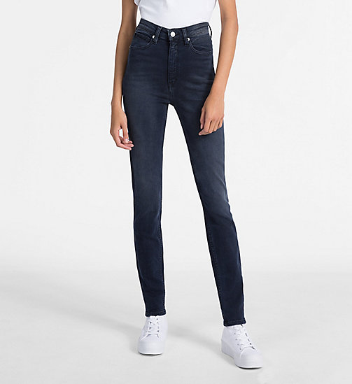 CALVIN KLEIN JEANS CKJ 010 High Rise Skinny Jeans - MILAN BLUE BLACK - CALVIN KLEIN JEANS THE DENIM INDEX - image principale