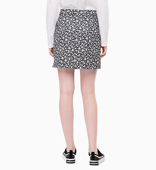 CALVIN KLEIN JEANS Floral Mini Skirt - DITSY FLOWER 2 BLACK / WHITE - CALVIN KLEIN JEANS FALL DREAMS - detail image 1