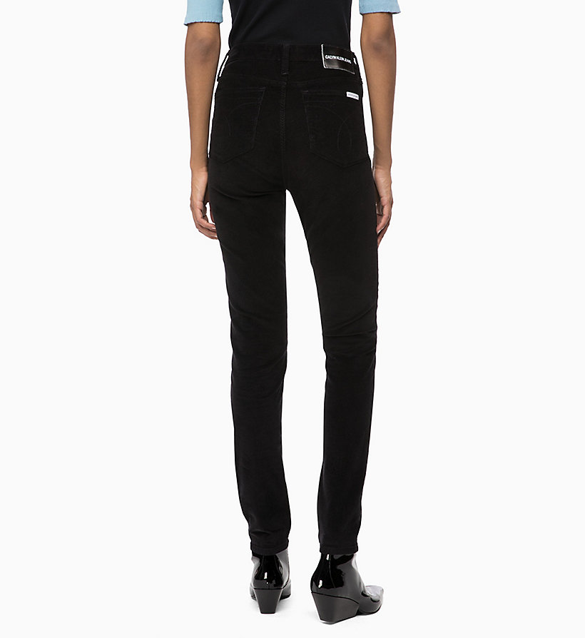 CALVIN KLEIN JEANS Corduroy High Rise Skinny Trousers - TANNIN - CALVIN KLEIN JEANS WOMEN - detail image 1