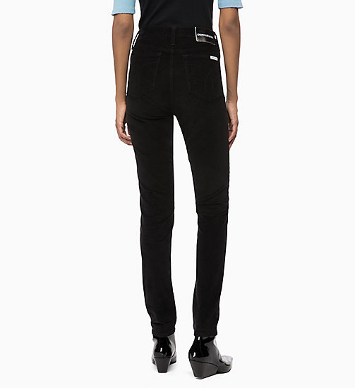 CALVIN KLEIN JEANS Corduroy High Rise Skinny Trousers - CK BLACK - CALVIN KLEIN JEANS CORDUROY - detail image 1