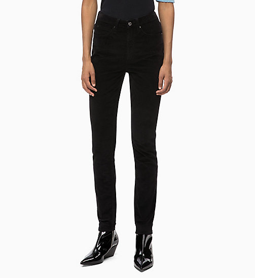 CALVIN KLEIN JEANS Corduroy High Rise Skinny Trousers - CK BLACK - CALVIN KLEIN JEANS CORDUROY - main image