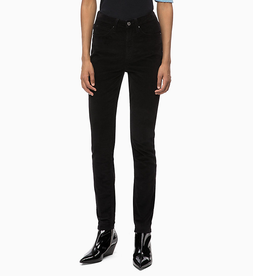 CALVIN KLEIN JEANS Corduroy High Rise Skinny Trousers - TANNIN - CALVIN KLEIN JEANS WOMEN - main image