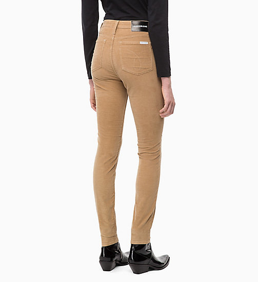 CALVIN KLEIN JEANS Corduroy High Rise Skinny Trousers - TANNIN - CALVIN KLEIN JEANS CORDUROY - detail image 1