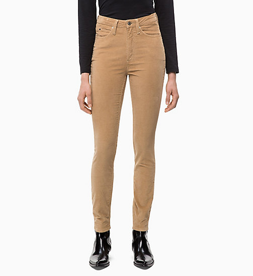 CALVIN KLEIN JEANS Corduroy High Rise Skinny Trousers - TANNIN - CALVIN KLEIN JEANS CORDUROY - main image