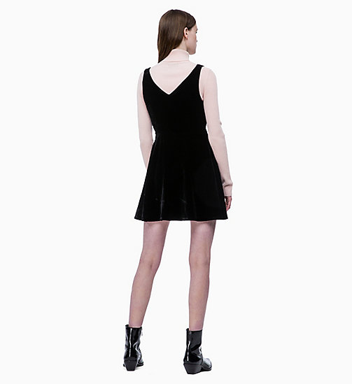 CALVIN KLEIN JEANS Flared Velvet Dress - CK BLACK - CALVIN KLEIN JEANS NEW IN - detail image 1