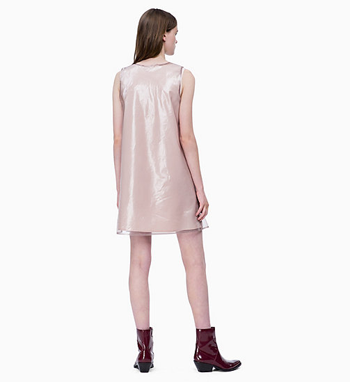 CALVIN KLEIN JEANS Organza Double Layer Dress - OATMEAL / CHINTZ ROSE - CALVIN KLEIN JEANS DRESSES - detail image 1