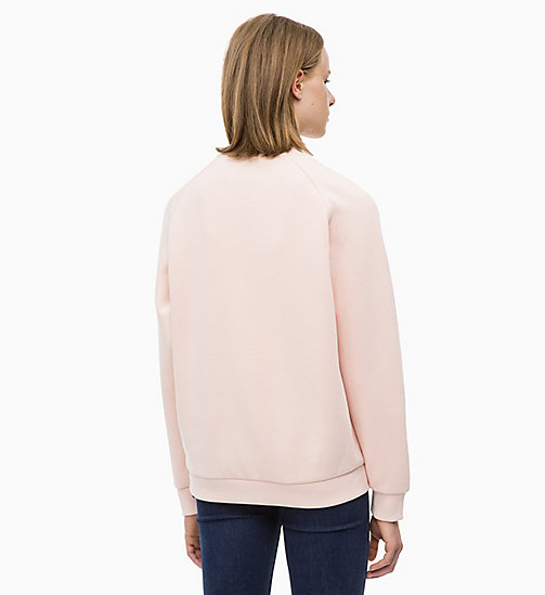 CALVIN KLEIN JEANS Panelled Stripe Sweatshirt - CHINTZ ROSE - CALVIN KLEIN JEANS NEW IN - detail image 1